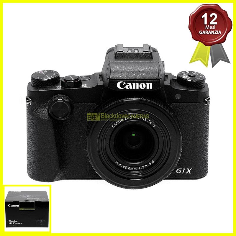 Fotocamera digitale Canon Powershot G1 X Mark III Black 24Mp obiettivo zoom 3x